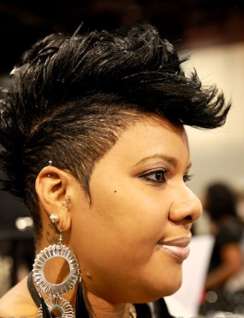 Awesome Short Mohawk Haircuts on Fat Cheeks African American