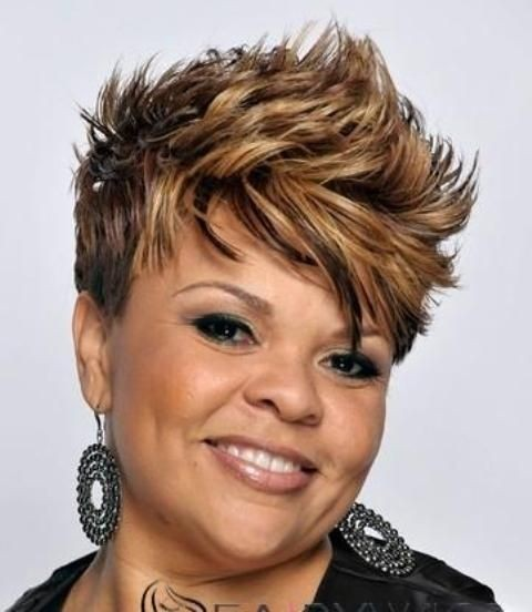Awesome short Haircut Wavy African American over 40