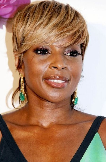 Awesome short Haircuts Blonde African American above 40