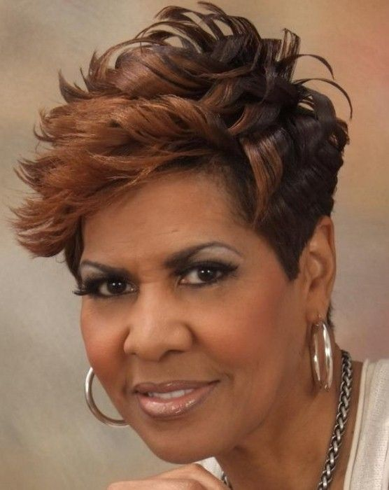 Awesome short afro haircut African American over 40