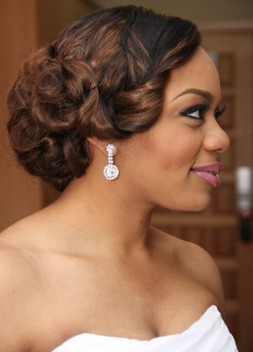 Admirable 50 Best Wedding Hairstyles For Black Women 2017 Cruckers Hairstyle Inspiration Daily Dogsangcom