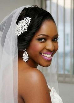 Best Wedding Hairstyle for Black Women Wavy