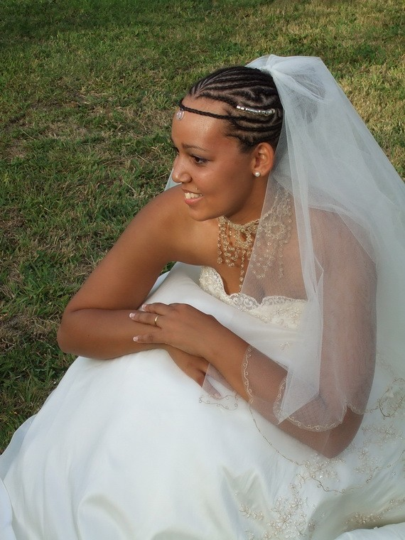 Best Wedding Hairstyle on Cornrows for Black Women