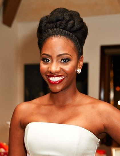 Best Wedding Long Natural Hairstyle For Black Women
