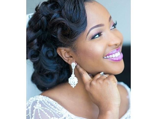 Tremendous 50 Best Wedding Hairstyles For Black Women 2017 Cruckers Hairstyle Inspiration Daily Dogsangcom