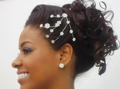 Best Wedding Two way design hairstyle for Black Women