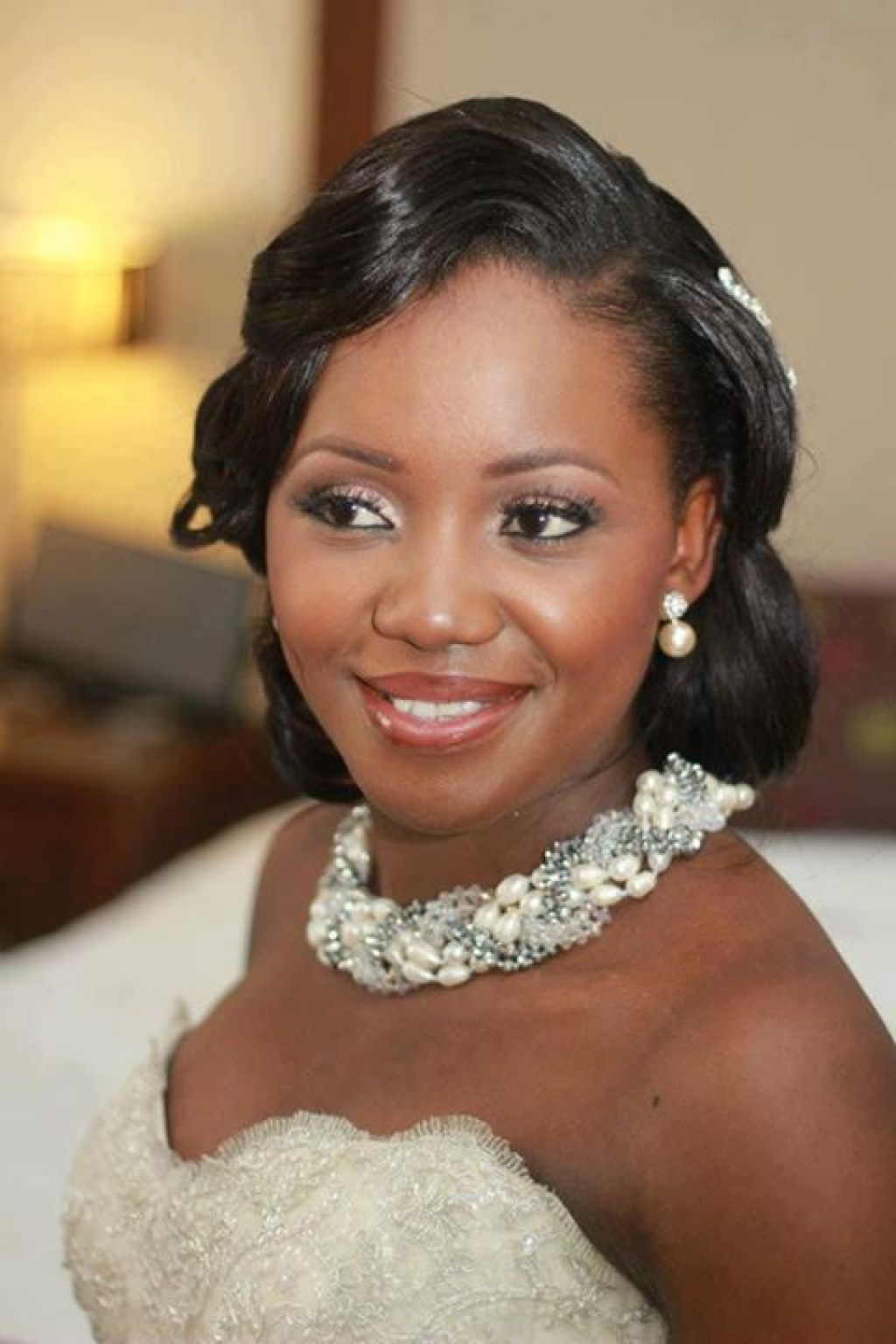Best Wedding Wavy Bob Hairstyle for Black Women