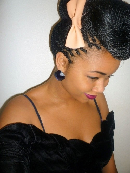 Best Wedding long Twist Up do for Black Women