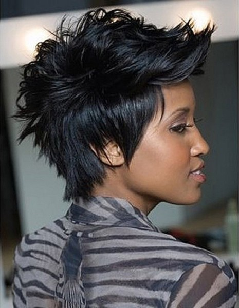 Captivating Short Messy Featured Haircut African American