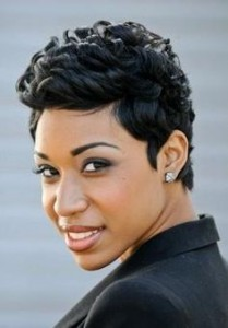 Captivating Short Messy long face Haircut African American