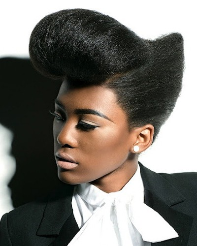 Interesting Natural Wedding Up do Oval faces for Black Women