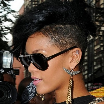Short one side Mohawk on straight Natural Haircut African American