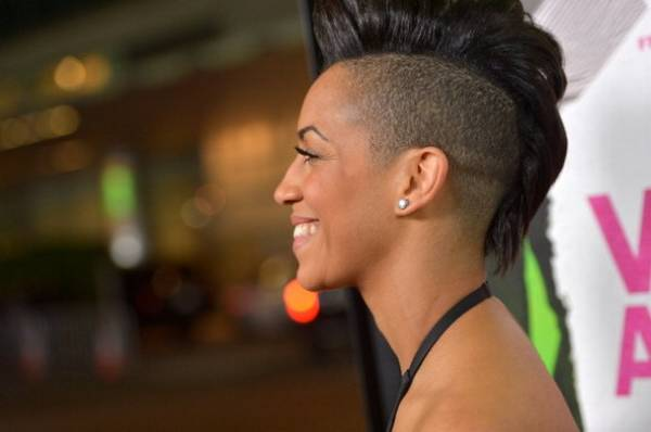 Short one side Mohawk on wavy Haircut African American