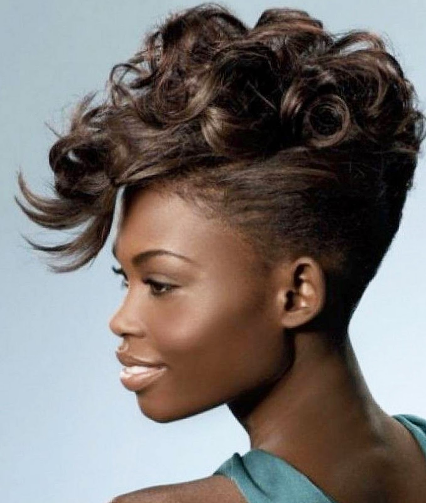 Stunning short French haircut Oval face African American