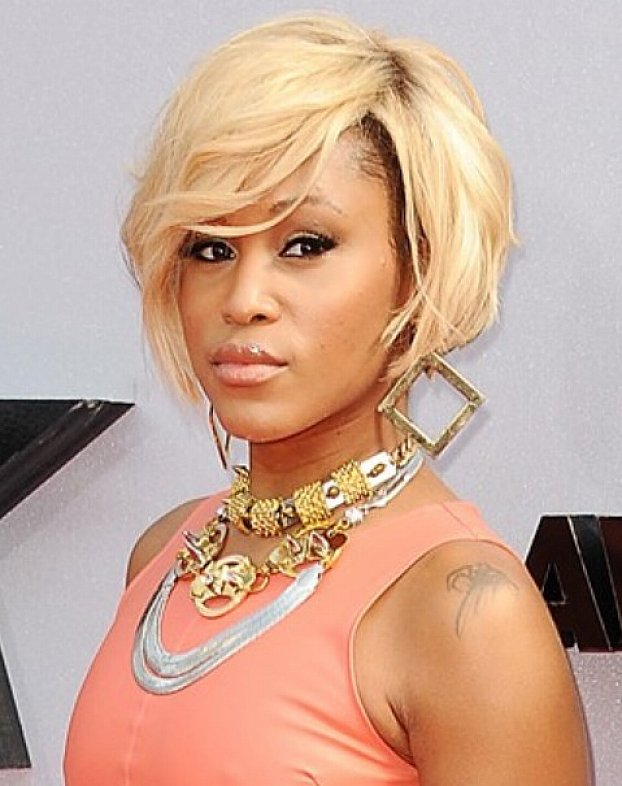 Tremendous Short Bob Haircut white Blonde African American