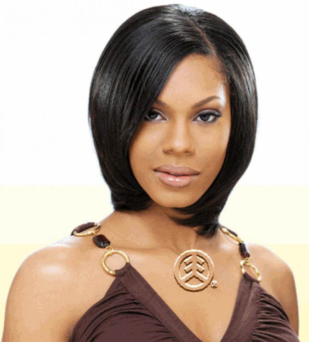 Tremendous Short Bob Straight Haircut African American