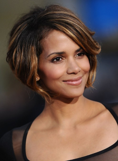 Awesome short layered Blonde Haircut African American