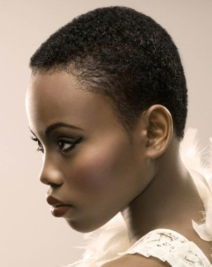 Enticing Short Normal Haircut Curly African American