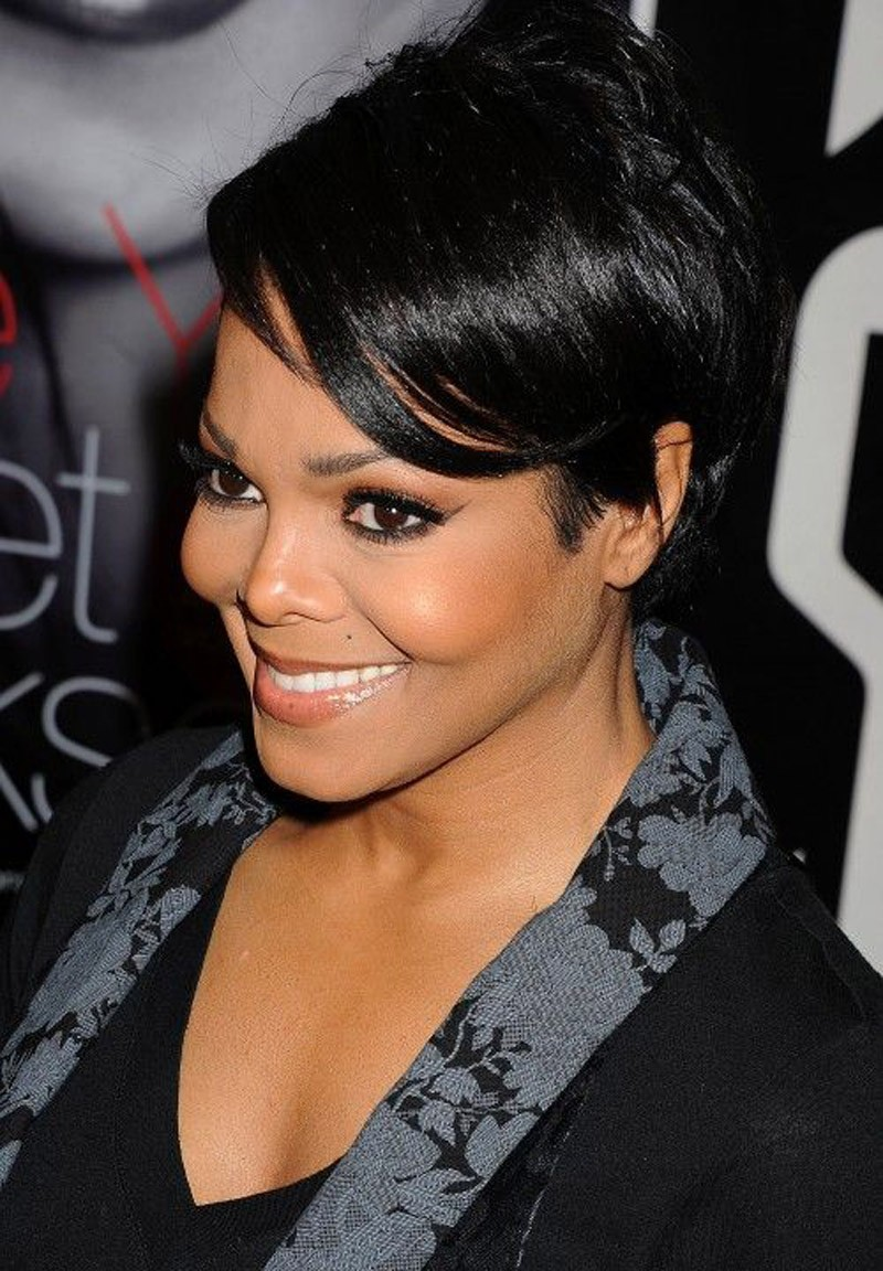 Beautiful celebrity short haircut oval face African American