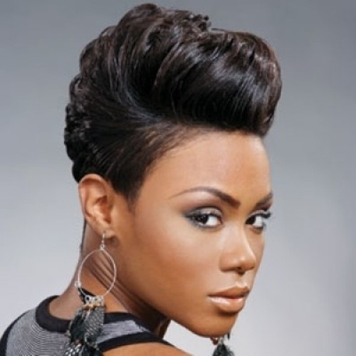 Beautiful relaxed short haircut oval face African American