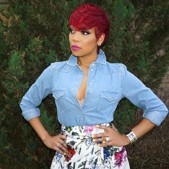 Must try red short haircut African American wavy