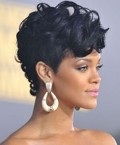 Short sassy haircut African American Oval faces