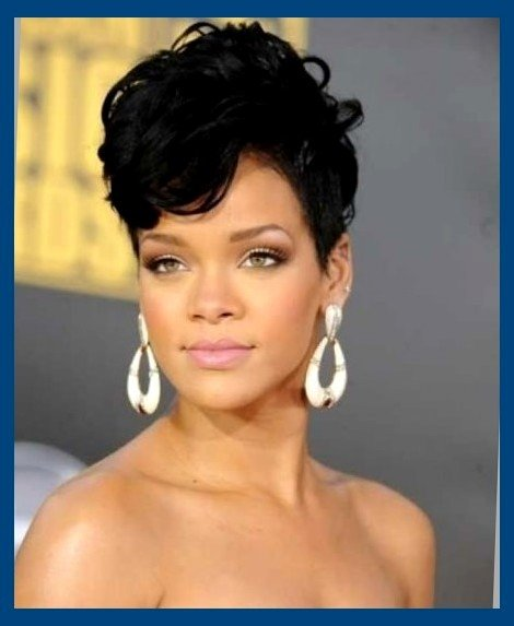 Touching Short Pixie Haircut Celebrity African American