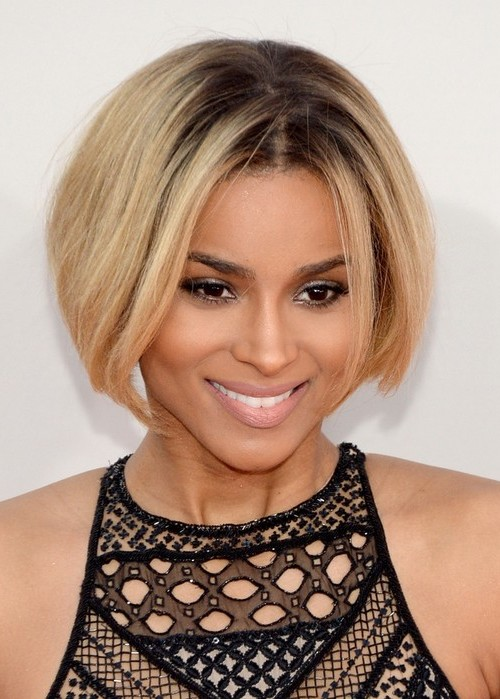 Trendiest short blonde haircut African American at 30's