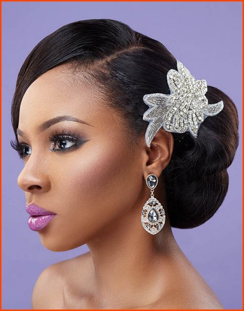 5 Tremendous Natural Wavy Wedding Hairstyles For Black Women Cruckers