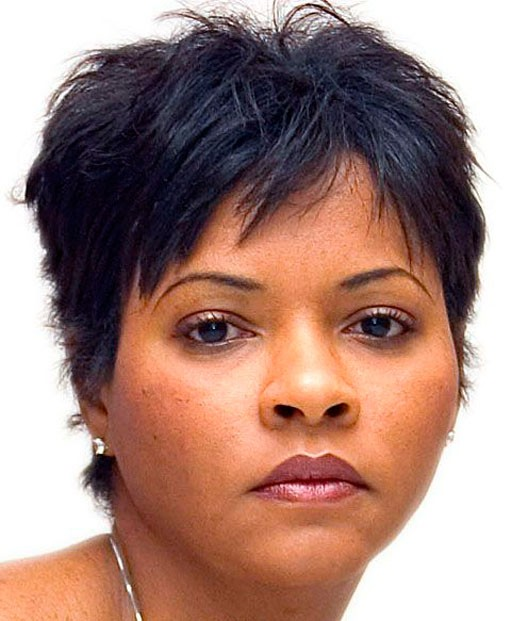 Short haircut sassy for fat faces African American