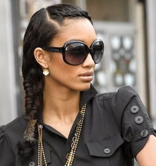 Touching fish tail wedding medium hairstyle black women
