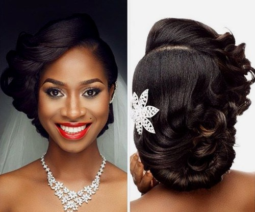 Tremendous  natural wavy wedding hairstyles oval face black women