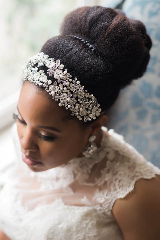 stunning-wedding-natural-two-design-puff-black-women
