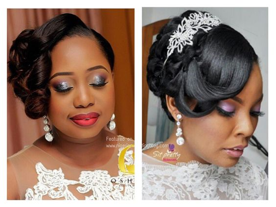 head-turning-wedding-hairstyle-on-long-wavy-bangs-black