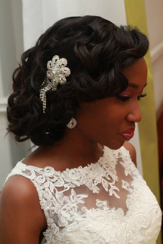 head-turning-wedding-layered-hairstyle-black-women-wavy