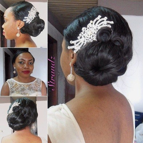 irresistibly-wedding-medium-hairstyle-side-bun-for-black-at-40