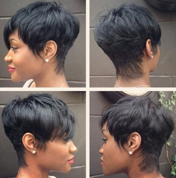 adorable-wedding-short-hair-with-bangs-black
