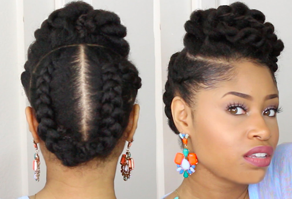 Head turning wedding long natural with up do black