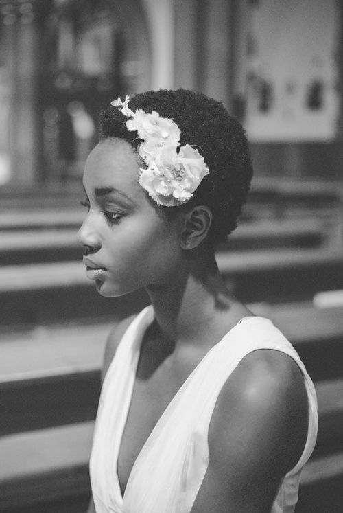 Most anticipated natural wedding afro black