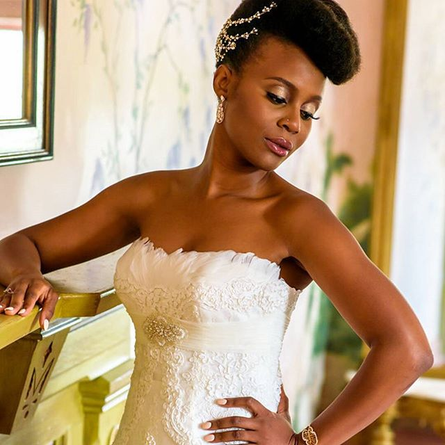 Most anticipated wedding afro hair black