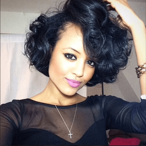 5 Crazy Wedding Wavy Bob Hairstyles black women |Cruckers