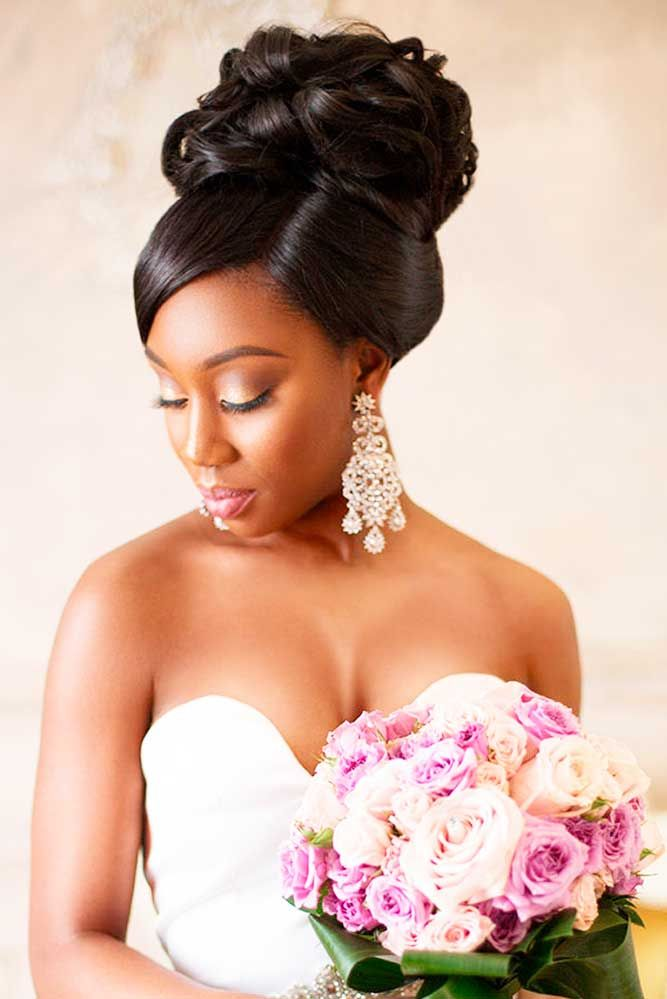 wedding styles for black hair 5 flattering wedding hairstyles with bangs black 2895