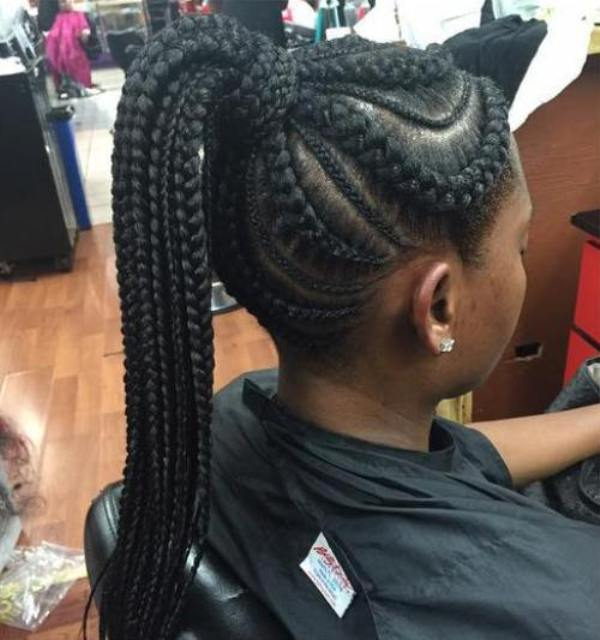 Best big and small braided black hairstyles