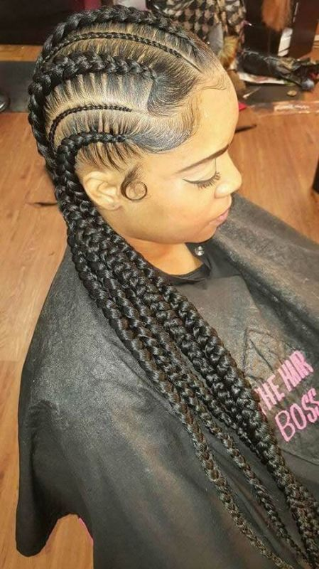 50 Best Black Braided Hairstyles For Black Women 2018