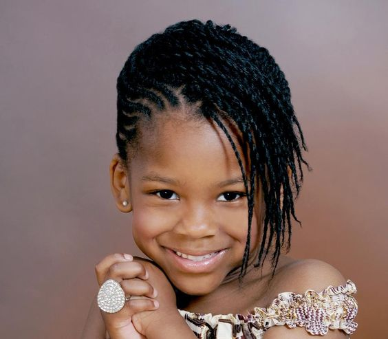 Best natural twisted hairstyle for kids