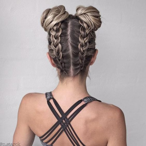 Best natural work-out hairstyle