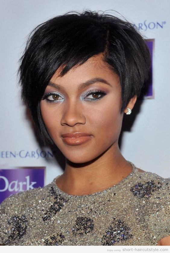Eye catching haircut ideas for African American girls- inverted Bob