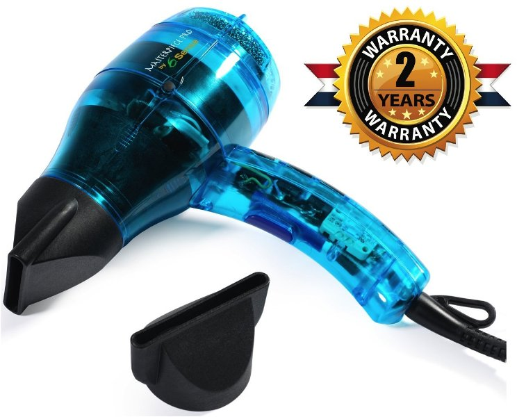 Professional Ionic Dual Ion Generator Hair Dryer – Builds Shine & Volume 1600w Featherweight