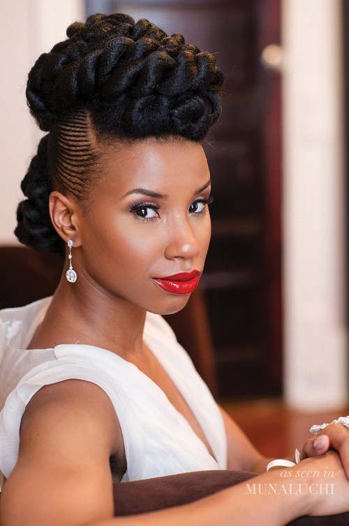 prom natural hairstyles with twist
