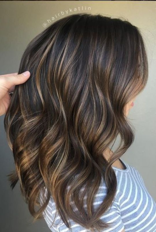 Blended brunette balayage highlights